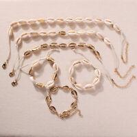 Shell Conch Gargantilla Collar Mujer Declaración Collares de múltiples capas