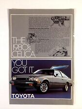 1980 Toyota Celica GT Liftback Vintage Original Print Ad Silver Automobile
