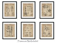 """6 Outer Space Patent Prints (8""""x10"""") - Great Gift for Engineers - Wall Art Decor"""