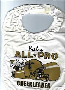 VINTAGE NFL NEW ORLEANS SAINTS ALL PRO CHEERLEADER BEAR HELMET BABY BIB
