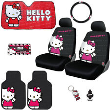 8PC CAR HELLO KITTY CORE SEAT STEERING COVERS MATS ACCESSORIES SET FOR BMW