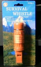 Survival Whistle, Includes Compass Lanyard, Mirror & Waterproof Compartment