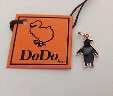 pinguino smaltato nero  oro rosa  Ciondolo  Dodo Pomellato misura media novità