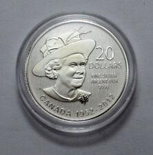 2012 Canada $20 .9999 Silver Coin Queen Elizabeth 60th Anninersary Commem. Coin!