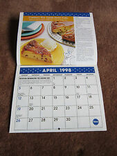 Pillsbury Calendar Recipes 1998 Hard To Find Bake Off Contest