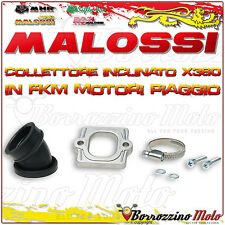 MALOSSI 2013802 COLLETTORE INCLINATO X360 Ø 30-35 APRILIA SCARABEO STREET 50 2T