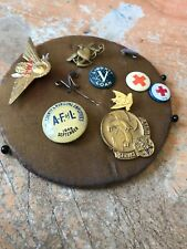 Vintage to Modern Lot Of 10 Lapel Pins - Tie Tacks - Red Cross 1919 -Handmade