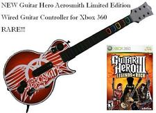 NEW Xbox 360 Guitar Hero Aerosmith Wired Guitar & Legends of Rock Bundle RARE