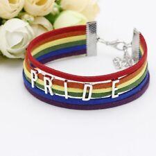 LGBT Gay Lesbian Rainbow Pride bracelet wristband