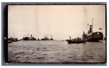 """Ceylon, Colombo, The Harbor, in front the """"Australian"""" Ship Vintage citrate prin"""