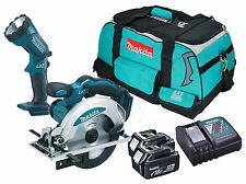 Makita DSS610 - 2x BL1840 - 1x DC18RC - 1x LXT400 Heavy Duty Bag - 1x BML185