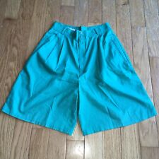 """Vintage Madison Club Green Pleated High Rise Shorts 27"""""""