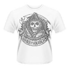 Sons of Anarchy Reaper Blanco T-Camisa Medio