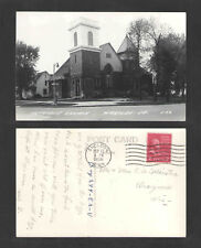 1956 METHODIST CHURCH HARTLEY IOWA RPPC REAL PICTURE POSTCARD