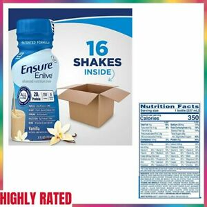 MEAL REPLACEMENT SHAKE Advanced Nutrition Protein Vanilla 16 Bottles By ENSURE
