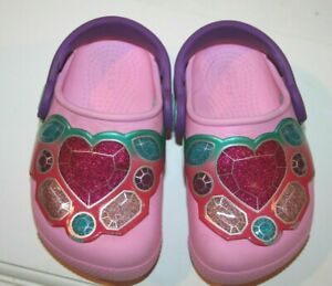 CROCS 6 Toddler Girls Light up Crocs