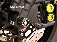 Yamaha YZF-R6 YZFR6 2005-2016 R&G RACING black fork crash protectors bobbins