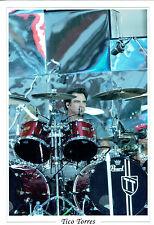Tico TORRES SIGNED Autograph 12x8 RARE Photo AFTAL COA Bon Jovi Drummer