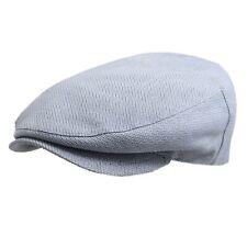 Béret - casquette plate homme ou femme Adelaïde motif - carreau-bleu