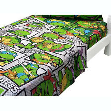 Teenage Mutant Ninja Turtles Bedding Boys Green Bedroom Bed 2pc Twin Sheet Set