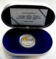 1990 Canada silver $20 dollars - North American Harvard - Aviation, Proof
