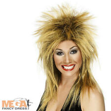 Rock diva femmes gingembre perruque 1980s célébrité tina turner costume robe fantaisie perruque