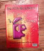 SCATTERGORIES Board Game PARKER 2003 WITH BATTERY TIMER COMPLETE UNTIDY BOX XMAS