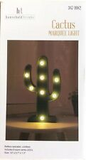 "Light-Up Cactus Marquee Light  10"" Battery-operated Home Decor"