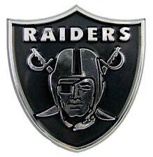 Oakland Raiders Auto Emblem Silver Plastic Chrome NEW Truck Car Auto Emblem