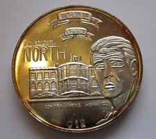 Oliver North, Pre-SBSS-shield, Silverado Oak Tree .999 Silver-Coin/Medal/Bullion
