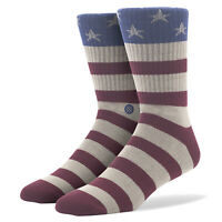 STANCE The Fourth Classic Light Crew Socks Large (9-12) United States Flag USA