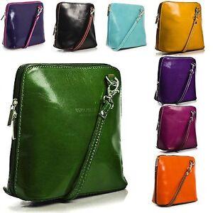 Women's Genuine Italian Leather vera Pelle Small/ Mini Classic Cross Body bags