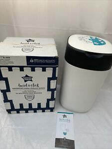 Twist Click Advanced Nappy Tommee Tippee Bin Sangenic Disposal White Refill New