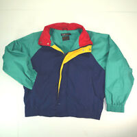 vtg Brooks Brothers Colorblock Cotton Windbreaker Jacket Sz M Light Weight