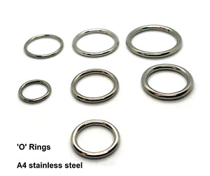 O Rings Welded polished Round Rings A4 Stainless Steel 316 Marine Grade