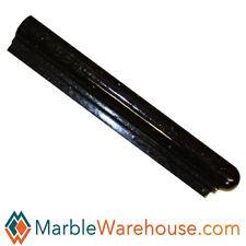 BLACK GALAXY GRANITE  LEFT CORNER CHAIR RAIL MOLDING  WALL TILE EDGE PIECE