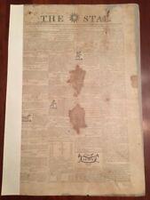 RARE 1813 RALEIGH STAR N. Carolina Newspaper, LENOIR signature Runaway SLAVE Ads