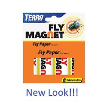 8 Tubes Victor Terro Insect Fly Catcher Sticky Paper Ribbon Mosquitoes Bugs Moth