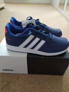 NEW IN BOX ADIDAS KIDS RUNNING VS SWITCH 2K TRAINERS D97417 BLUE WHITE UK 4