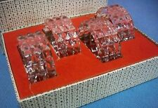 Vintage 1970s Crystal Napkin Rings Cut Glass Set of 4 Western Germany In Box