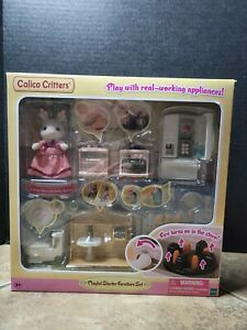 Calico Critters Playful Starter Furniture set Bunny & working appliances Playset