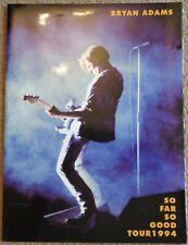 Bryan Adams - So Far So Good Tour 1994 programme