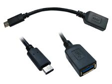 Cables Direct USB 3.1 Type-C Male to USB 3.1 Type-A femelle Adaptateur