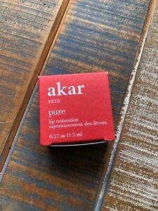 Akar Skin Pure Lip Restoration 0.17 oz / 5 ml, New in Box