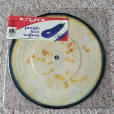 """New listing Cud - Purple Love Balloon 7"""" Picture Disk Record Single Vinyl 90's Indie Rock"""