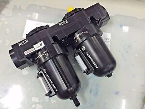 "NORGREN F68G-NNN-AR3 + L68M-NNP-ERN  Olympian Plus  Filter Lubricator Unit 1"""
