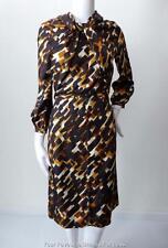 THAKOON Size US 4 AU 8 Long Sleeve Silk Shift Dress Made in USA  rrp AU $3298.95