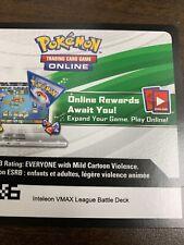 Pokemon INTELEON VMAX LEAGUE BATTLE DECK CODE - MESSAGED