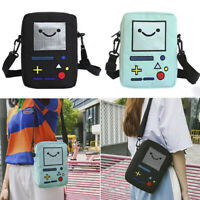Women Casual Cute Mini Robot Phone Purse Canvas Tote Messenger Crossbody Bag~QA