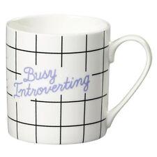 New Wild & Wolf Yes Studio Busy Introverting Bone China Mug Gift Box Coffee Cup